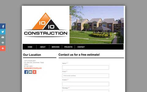 Screenshot of Privacy Page Contact Page 1010roofing.com - Contact - captured Oct. 26, 2014