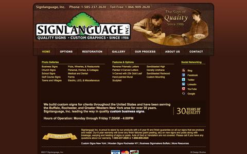 Screenshot of Menu Page signlanguageinc.com - Signlanguage, Inc. - Mobile Menu - captured Nov. 13, 2017