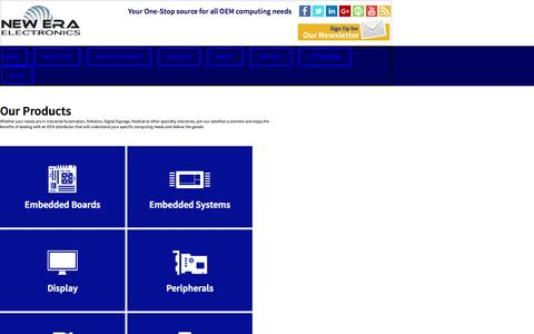 Screenshot of Products Page neweraelectronics.com - Our Products - New Era Electronics - captured Oct. 29, 2014