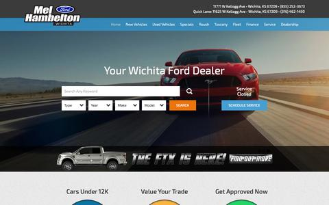 Screenshot of Home Page mhford.com - Wichita Ford and Used Car Dealer | Mel Hambelton Ford - captured Jan. 25, 2015