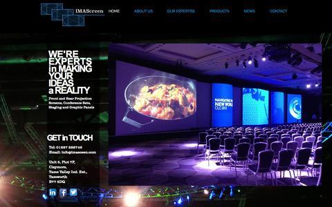 Screenshot of Home Page imascreen.com - imascreen - captured Oct. 3, 2014