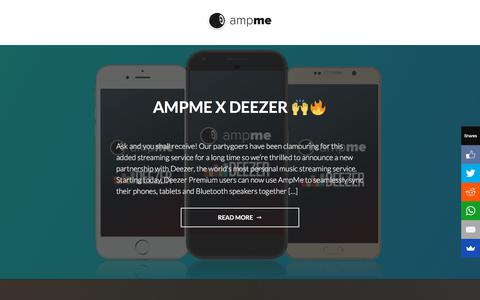 Screenshot of Blog ampme.com - AmpMe - Be the Speakers - Sync your phone with friends to create the most portable sound system - captured July 3, 2019