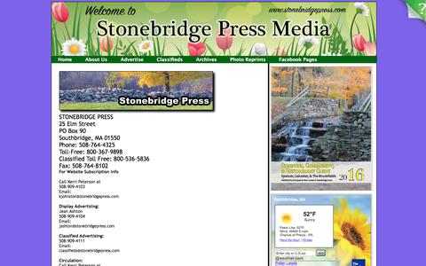 Screenshot of About Page southbridgeeveningnews.com - Contact Us - captured May 14, 2016