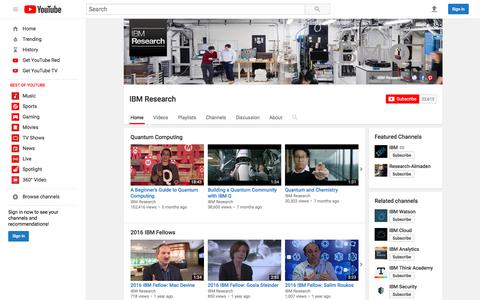 IBM Research  - YouTube