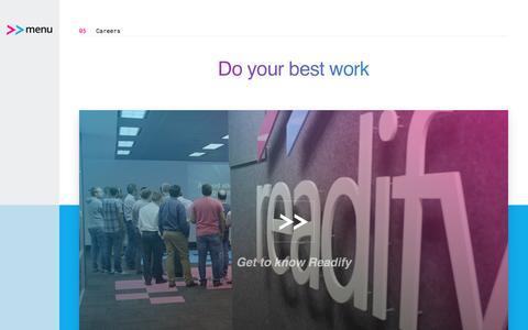 Screenshot of Jobs Page readify.net - Careers | Readify - captured May 10, 2017