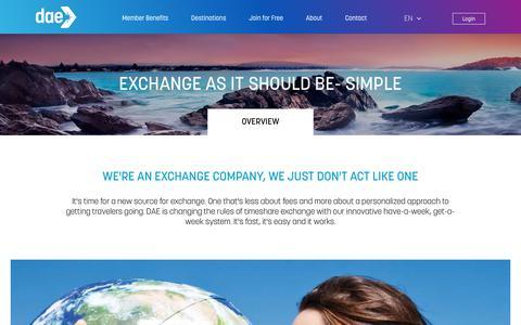 Screenshot of About Page daelive.com - Timeshares & Time Share Exchange Service-DAELive.com - captured Dec. 14, 2018
