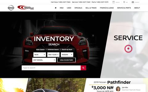 Screenshot of Home Page downtownnashvillenissan.com - Downtown Nashville Nissan | New & Used Nissan Dealership - captured July 21, 2019