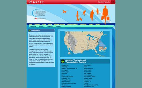 Screenshot of Locations Page hudsongroup.com - Hudson Group - captured Sept. 30, 2014