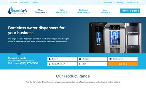 Screenshot of Products Page waterlogic.com - Rent or Buy Water Dispensers for your Office · Waterlogic - captured May 22, 2017