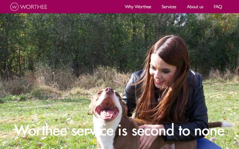 Screenshot of Services Page worthee.com - Pet service from Worthee is second to none | Worthee - captured Oct. 7, 2014