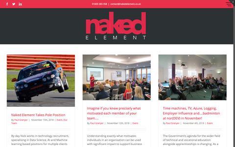 Screenshot of Blog nakedelement.co.uk - Blog - Naked Element - captured Nov. 19, 2018