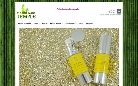 Screenshot of Home Page mybodytemple.co.uk - My Body Temple - Products featured in Asiana Magazine 2014 - captured Oct. 1, 2014