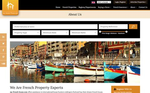 Screenshot of About Page my-french-house.com - About my-french-house.com   Buying French Property Just Got Easier - captured Oct. 25, 2017