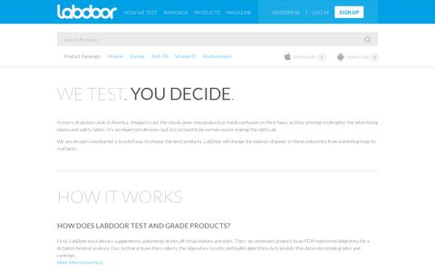 Screenshot of About Page labdoor.com - About Us - LabDoor - captured July 19, 2014