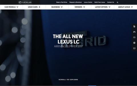 New Lexus LC 500 Luxury coupé | Lexus UK