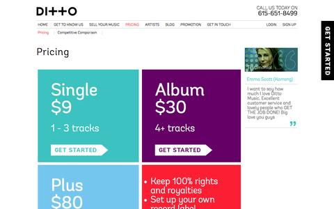 Digital music distribution pricing | Ditto Music