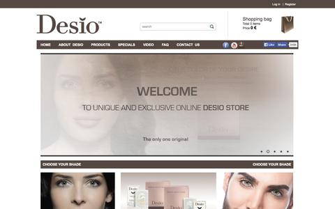 Screenshot of Products Page desiolens.com - Sensual beauty contact lenses | Desiolens.com - captured Oct. 31, 2014