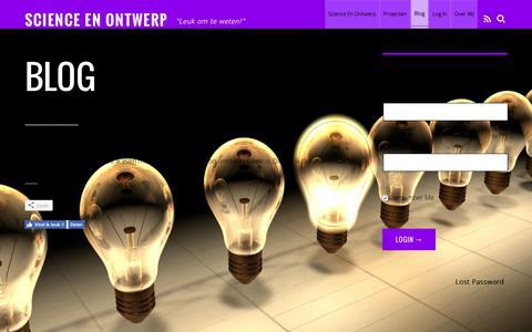 Screenshot of Blog science-ontwerp.nl - Blog – Science en Ontwerp - captured Nov. 19, 2016