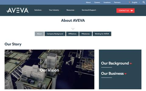 Screenshot of About Page aveva.com - About AVEVA, world leading engineering technology provider - captured April 10, 2017