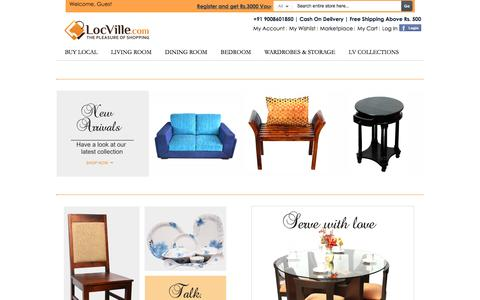 Screenshot of Home Page locville.com - Locville Online Shopping - Bags, Kitchenware, Phone Cases, Furnishings, Decor, Furniture - captured Jan. 16, 2016