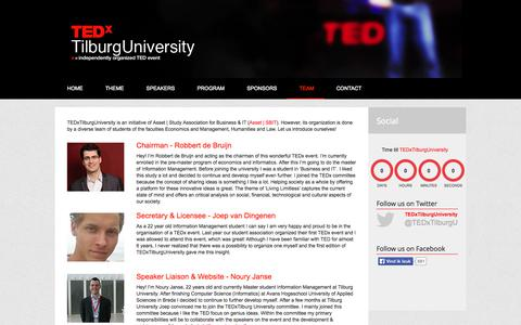 Screenshot of About Page tedxtilburguniversity.nl - Team - TEDxTilburgUniversity 2014   Living Limitless - captured Sept. 30, 2014
