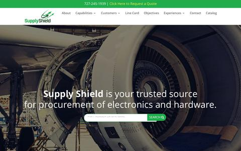 Screenshot of Home Page supplyshield.com - Home - Supply Shield - captured Sept. 21, 2018