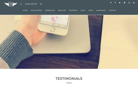 Screenshot of Testimonials Page lois-systems.co.uk - Testimonials - Lois Systems - captured Sept. 1, 2017