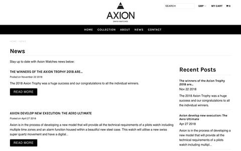 Screenshot of Press Page axionwatches.com - News – Axion Watch - captured Dec. 18, 2018