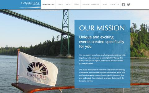 Screenshot of Services Page sunsetbaycharters.net - Why Sunset Bay - Sunset Bay Yacht Group | Sunset Bay Yacht Group - captured Oct. 6, 2014