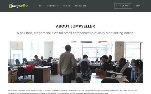Screenshot of About Page jumpseller.com - About Jumpseller | The E-Commerce Builder - captured Nov. 21, 2016