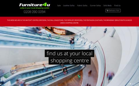 Screenshot of Home Page furniture4u.uk.com - Furniture4u | Sofas in your local shopping centre - captured Sept. 30, 2014