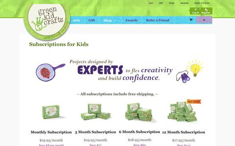 Screenshot of Signup Page greenkidcrafts.com - Subscriptions for Kids - Green Kid Crafts | Official Site - captured Oct. 25, 2015
