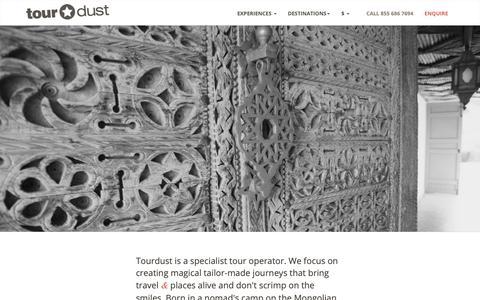 Screenshot of About Page tourdust.com - Tourdust - captured Nov. 9, 2018