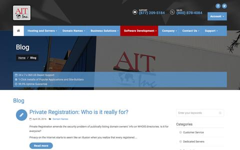 Screenshot of Blog ait.com - Tech Corner | Company Blog | AIT.com - captured Aug. 23, 2016
