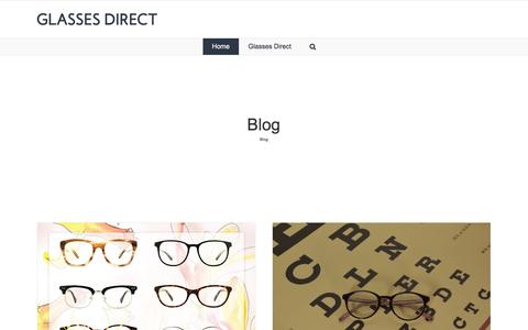 Screenshot of Blog glassesdirect.co.uk - Glasses Direct ™ Blog - captured March 4, 2018