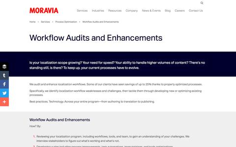 Workflow Audits and Enhancements - Moravia
