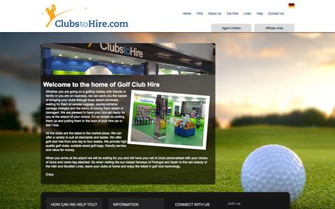 Screenshot of About Page clubstohire.com - Golf Clubs Hire, Golf Club Rental, Faro Golf Hire Rental, Algarve Golf Club Hire,Algarve Golf Club Hire - captured Sept. 30, 2014