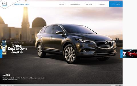 Screenshot of Home Page mazdapr.com - Mazda Puerto Rico - captured Oct. 6, 2014