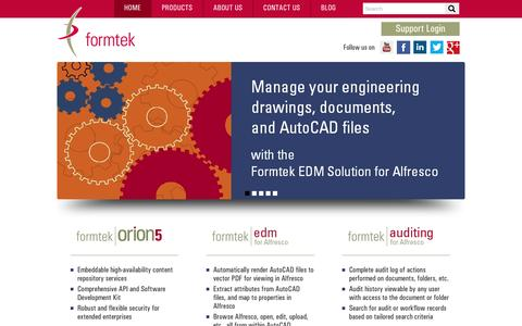 Screenshot of Home Page formtek.com - Content Management | Document Management Software and Services - captured May 9, 2017