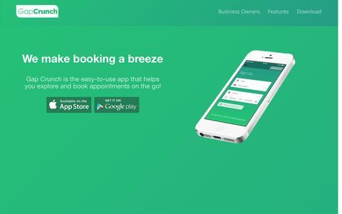 Screenshot of Home Page gapcrunch.com - Gap Crunch - captured Sept. 30, 2014