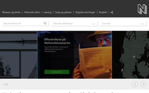 Screenshot of Home Page natmus.dk - Nationalmuseet - captured Oct. 16, 2018