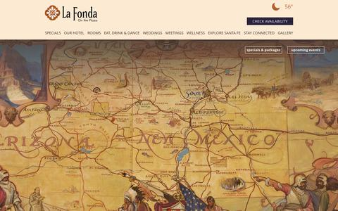 Screenshot of Maps & Directions Page lafondasantafe.com - Directions to Santa Fe Plaza   La Fonda On The Plaza - captured July 10, 2017