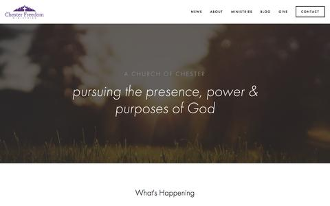 Screenshot of About Page Contact Page chesterfreedom.com - Chester Freedom Ministries - A Church of Chester, SC - captured Sept. 27, 2015