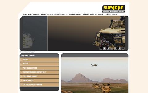 Screenshot of Support Page supacat.com - Support  - Supacat - captured Oct. 1, 2014