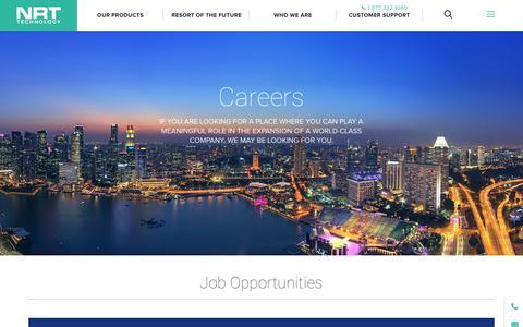 Screenshot of Jobs Page nrttech.com - Careers - NRT Tech : NRT Tech - captured Dec. 6, 2018