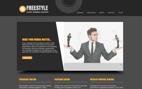 Screenshot of Home Page freestyleservices.com - Freestyle Editorial - captured Nov. 25, 2016