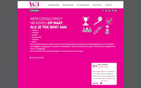 Screenshot of Home Page akerconsultancy.nl - Aker consultancy | Home - captured Sept. 30, 2014