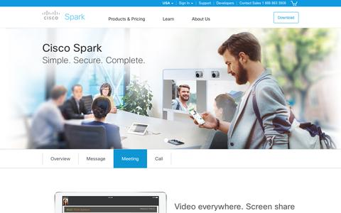 Cisco Spark. Meet with video and screen sharing.