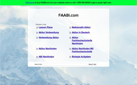 Screenshot of Home Page faabi.com - FAABi.com - captured Aug. 8, 2018