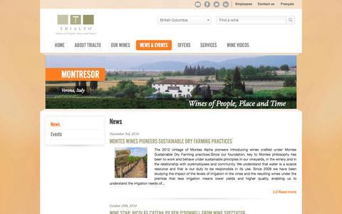 Screenshot of Press Page trialto.com - News  - Trialto - captured Nov. 5, 2014